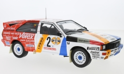 Modellino - <strong>Audi</strong> quattro, No.2, Schmidt motociclismo, rally DM, Hunsrück rally, H.Demuth/W.Lux, 1984<br /><br />IXO, 1:18<br />n. 224283