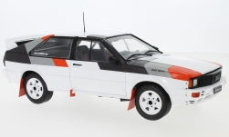 Modellino - <strong>Audi</strong> quattro bianco/decor, rally Spec, 1982<br /><br />IXO, 1:18<br />n. 224284