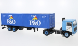 Modelcar - <strong>Volvo</strong> F10, P&O, Containersattelzug, 1983<br /><br />IXO, 1:43<br />No. 224302