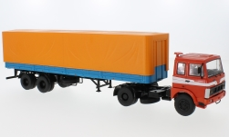 Modelcar - <strong>MAZ</strong> 5432, red/blue, with trailer MAZ 93971<br /><br />Premium ClassiXXs, 1:43<br />No. 224379