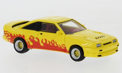 Modelcar - <strong>Opel</strong> Manta B Mattig, yellow/Decorated, 1991<br /><br />BoS-Models, 1:87<br />No. 224411