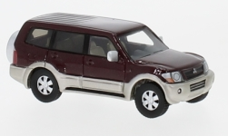 Modelcar - <strong>Mitsubishi</strong> Pajero, metallic-dark red, 2003<br /><br />BoS-Models, 1:87<br />No. 224480
