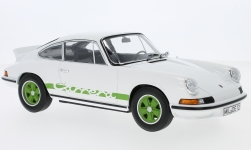 Modelcar - <strong>Porsche</strong> 911 RS Touring, white/green, 1973<br /><br />Norev, 1:18<br />No. 224800
