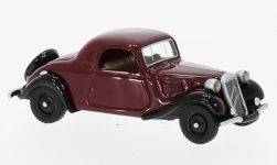 Modelcar - <strong>Citroen</strong> traction Avant faux Convertible, dark red/black, 1936<br /><br />BoS-Models, 1:87<br />No. 224815