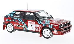 Modellauto - <strong>Lancia</strong> Delta HF Integrale 16V, No.5, Rallye San Remo, D.Auriol/B.Occelli, ohne Vitrine, 1989<br /><br />Triple 9 Collection, 1:18<br />Nr. 224887