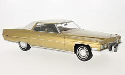 Modelcar - <strong>Cadillac</strong> Coupe DeVille, gold/white, 1972<br /><br />BoS-Models, 1:18<br />No. 224964