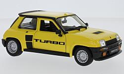 Modelcar - <strong>Renault</strong> 5 Turbo, yellow, 1982<br /><br />Bburago, 1:24<br />No. 225208
