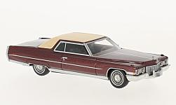 ModelCar - <strong>Cadillac</strong> Coupe DeVille, metallic-dunkelrot/beige, 1972<br /><br />Neo, 1:64<br />No. 225223