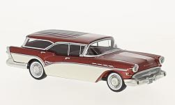 Modelcar - <strong>Buick</strong> Century Caballero Estate Wagon, metallic-red/white, 1957<br /><br />Neo, 1:64<br />No. 225226