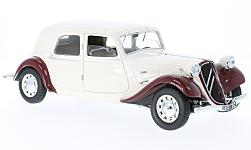 Modelcar - <strong>Citroen</strong> traction 11 CV, beige/dark red, 1938<br /><br />Solido, 1:18<br />No. 225292