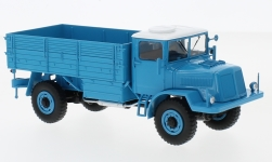 Modelcar - <strong>Tatra</strong> 128N, blue/white, flatbed platform trailer, 1951<br /><br />Premium ClassiXXs, 1:43<br />No. 225435