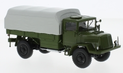 Modelcar - <strong>Tatra</strong> 128N, olive greeen/grey, flatbed platform trailer with cover, 1951<br /><br />Premium ClassiXXs, 1:43<br />No. 225436