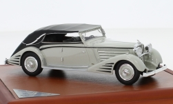 Modelcar - <strong>Maybach</strong> DS8 streamliner-Convertible Spohn, light grey/black, 1934<br /><br />CMF, 1:43<br />No. 225541