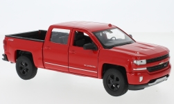 Modellauto - <strong>Chevrolet</strong> Silverado, rot, 2017<br /><br />Welly, 1:24<br />Nr. 225572