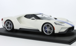 Modellauto - <strong>Ford</strong> GT, weiss/blau<br /><br />Top Speed, 1:18<br />Nr. 225627
