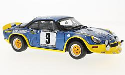 Modellauto - <strong>Alpine Renault</strong> A110 Turbo, No.9, Rally Cevennes, J-L.Therier/M.Callewaert, 1972<br /><br />Ottomobile, 1:18<br />Nr. 225972