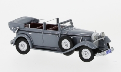 Modelcar - <strong>Mercedes</strong> 770 (W07) Convertible, grey, RHD, 1930<br /><br />BoS-Models, 1:87<br />No. 226200