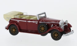 Modelcar - <strong>Mercedes</strong> 770 (W07) Convertible, dark red, 1930<br /><br />BoS-Models, 1:87<br />No. 226201