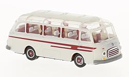 Modellauto - <strong>Setra</strong> S6, wit/rood<br /><br />Brekina, 1:87<br />Nr. 226616