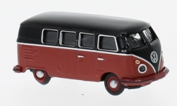 Modellauto - <strong>VW</strong> T1c Bus, schwarz/rot<br /><br />Schuco, 1:87<br />Nr. 227078