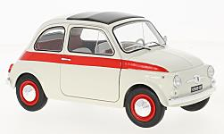 Modelcar - <strong>Fiat</strong> 500 L Sport, white/red, 1960<br /><br />Solido, 1:18<br />No. 227100