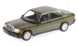 Modelcar - <strong>Mercedes</strong> 190E (W201), metallic-dark green, 1982<br /><br />Minichamps, 1:18<br />No. 227239