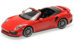 Modelcar - <strong>Porsche</strong> 911 (991.2) Turbo S Convertible, red, 2016<br /><br />Minichamps, 1:43<br />No. 227299