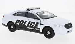 Modellauto - <strong>Ford</strong> Police Interceptor, weiss<br /><br />Welly, 1:24<br />Nr. 227319