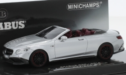 Modellauto - <strong>Mercedes</strong> Brabus 850, silber, Basis AMG S 63 Cabriolet, 2016<br /><br />Minichamps, 1:43<br />Nr. 227506