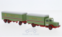Modellauto - <strong>Büssing</strong> 8000 Koffer-Lastzug, Spedition Wandt, Serie 800<br /><br />Wiking / PMS, 1:87<br />Nr. 227725