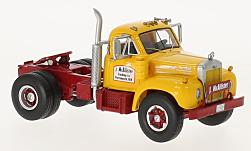 ModelCar - <strong>Mack</strong> B-61T, gelb/rot, 1957<br /><br />Neo, 1:64<br />No. 227807