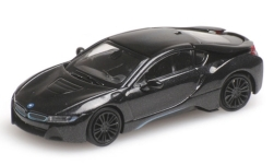 Modellauto - <strong>BMW</strong> i8 Coupe, metallic-dunkelanthrazit, 2015<br /><br />Minichamps, 1:87<br />Nr. 227855
