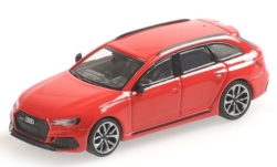 voiture miniature - <strong>Audi</strong> RS4 Avant (B9), metallic-rouge, 2018<br /><br />Minichamps, 1:87<br />N° 227878