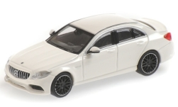 ModelCar - <strong>Mercedes</strong> AMG C63 (W205), weiss, 2019<br /><br />Minichamps, 1:87<br />番号 227925