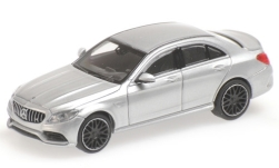 ModelCar - <strong>Mercedes</strong> AMG C63 (W205), silber, 2019<br /><br />Minichamps, 1:87<br />番号 227926