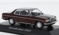 Modelcar - <strong>Mercedes</strong> 230CE (W123), dark red, 1976<br /><br />Maxichamps, 1:43<br />No. 227980