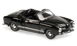 Modellauto - <strong>VW</strong> Karmann Ghia Cabriolet (Typ 14), schwarz, 1955<br /><br />Maxichamps, 1:43<br />Nr. 228000