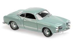 voiture miniature - <strong>VW</strong> Karmann Ghia Coupe, bleu clair, 1955<br /><br />Maxichamps, 1:43<br />N° 228003