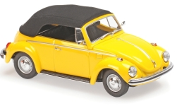Modelcar - <strong>VW</strong> beetle 1302 Convertible, yellow, 1970<br /><br />Maxichamps, 1:43<br />No. 228008