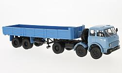 Modelcar - <strong>MAZ</strong> 520, light blue/blue, with flatbed platform trailer 5205<br /><br />SpecialC.-81, 1:43<br />No. 228040