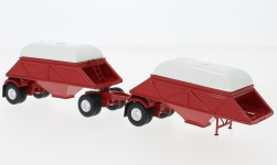 Modelo de coche - <strong>Anhänger</strong> stand-in Bottom Dump remolque, rojo, Closed, 1955<br /><br />Neo, 1:64<br />Nº 228428