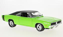 Modelcar - <strong>Dodge</strong> Charger R/T, light green/black, 1969<br /><br />Maisto, 1:18<br />No. 228438