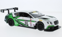 Modelcar - <strong>Bentley</strong> Continental GT3, white/green, No.88, A.Fong<br /><br />Bburago, 1:24<br />No. 228726