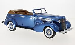 Modellauto - <strong>Buick</strong> Roadmaster 80-C Four-Door Phaeton, metallic-blau, 1937<br /><br />BoS-Models, 1:18<br />Nr. 228790