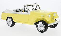 Modelcar - <strong>Jeep</strong> Jeepster Commando Convertible, yellow/white, 1970<br /><br />BoS-Models, 1:18<br />No. 228791