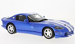 Modelcar - <strong>Dodge</strong> Viper  GTS, blue/white, 1996<br /><br />GT Spirit, 1:18<br />No. 229017