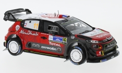 Modelcar - <strong>Citroen</strong> C3 WRC, No.11, Citroen total Abu Dhabi World Rally team, Rallye WM, Rallye Mexico, S.Loeb/D.Elena, 2018<br /><br />Spark, 1:43<br />No. 229124