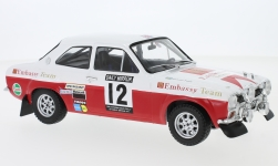 Modellino - <strong>Ford</strong> Escort MK1 RS 1600, No.12, Embassy, RAC rally, H.Mikkola/G.Palm, 1971<br /><br />IXO, 1:18<br />n. 229381