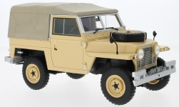 Modellauto - <strong>Land Rover</strong> Lightweight Series IIA, beige, RHD, Soft Top, 1968<br /><br />BoS-Models, 1:18<br />Nr. 229392