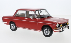 Modelcar - <strong>Simca</strong> 1501 Special, red, with yellow fog lights, 1970<br /><br />BoS-Models, 1:18<br />No. 229394